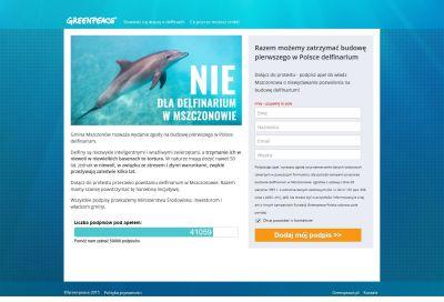 Landing page Greenpeace