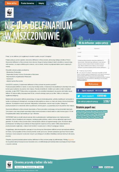 Landing page WWF