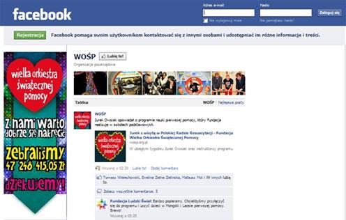 Organizacje charytatywne nafacebooku