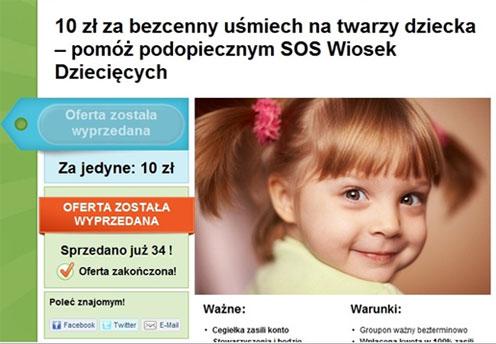 Fundraising poprzez Groupon.pl