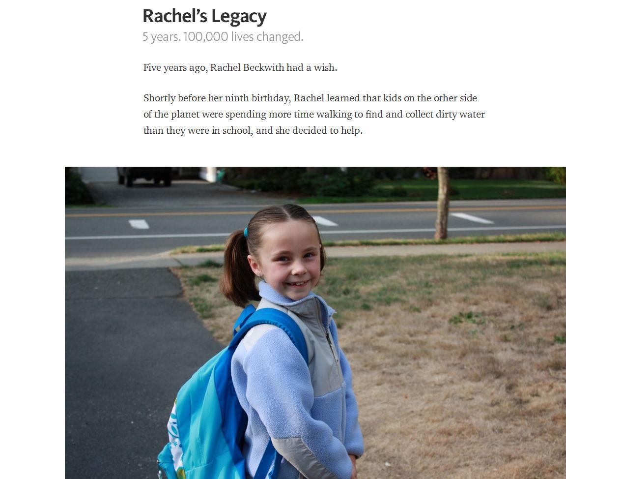 Prawdziwa historia Rachel iPeer-2-Peer Fundraising